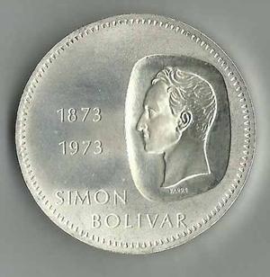 Moneda De Plata Conmemorativa. 10 Bolívares. Doblón.