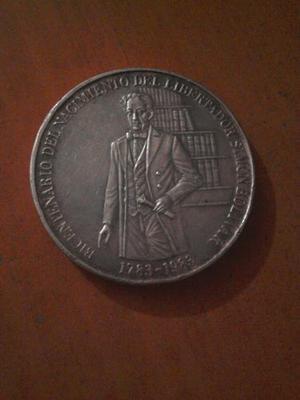 Moneda De Plata De 100 Bolivares Bicentenario Simón Bolivar
