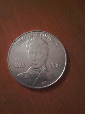 Moneda De Plata De 100bs Simón Bolívar