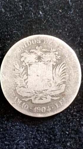 Moneda Venezolana Centenaria Plata Año