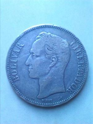 Moneda Venezolana De Plata Del Año