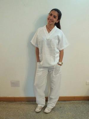 Uniforme De Enfermería Blanco Unisex Tallas S, Ss, M, G