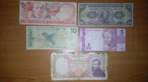 Varios Billetes De Diferentes Países