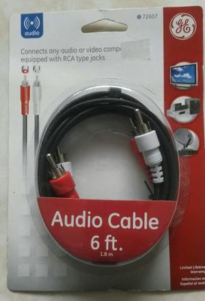 Cable De Audio Tipo Rca Marca General Electric De 1.8 Metros