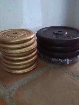 Discos de pesas por kilo.