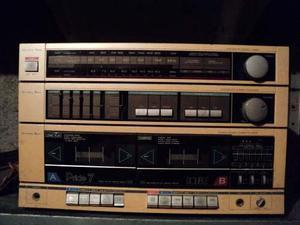Equipo Sonido Antiguo Con Tocadiscos Casettes Y Radio Oferta