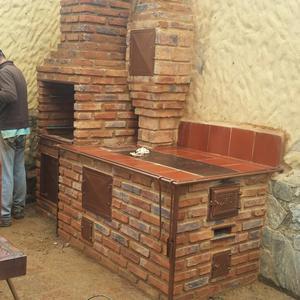 Estufas hornos y parrilleras de le a posot class - Como se construye una barbacoa ...