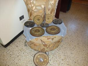 Pesas mancuernas cromadas de 20 kg performance posot class for Pesas y mancuernas
