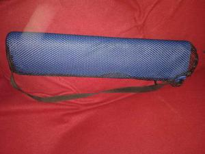 Alfombra De Yoga Azul Con Su Estuche Para Transportar