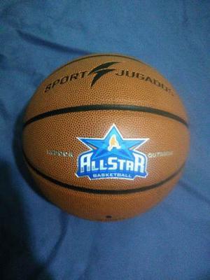 Balon De Basket. Excelente Calidad Profesional Semicuero 7