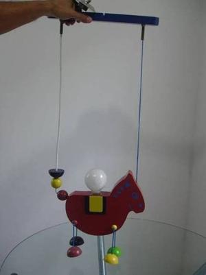 Lampara Infantil Caballo De Madera