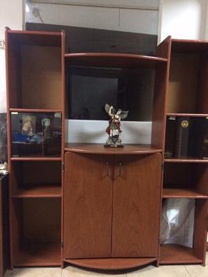 Mueble Para Tv Biblioteca Equipo Sonido Centro De Entretenim