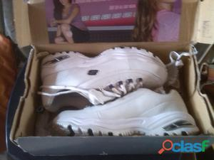 Zapato Deportivo De Dama Skechers (s) Sport (nuevo)