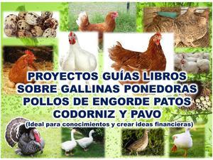 proyectos, guias libros para cria de pollos de engorde,