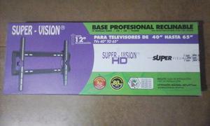 Base Para Tv Profesional Reclinable De 40'' Hasta 65'' Nuevo