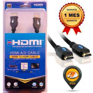 Cable Hdmi 3 Metros Con Malla Full Hd d Ps4 Xbox Nuevo