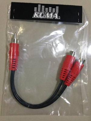 Cable Rca Tipo Y Marca Kuma, 2 Hembras Y 1 Macho.