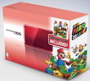 Nintendo 3ds Rojo Nuevo En Caja Con 4 Juegos Tienda Fisica