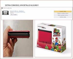 Nintendo 3ds Xl + R Juegos)+ Protector + + Otros