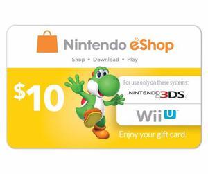 Nintendo Eshop 10 Usd Usa Para Wiiu/3ds