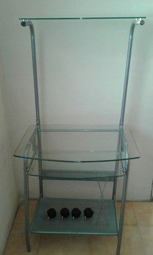 Mesa De Computadora De Vidrio Nueva De 3 Niveles