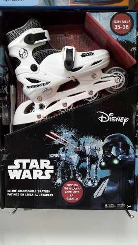 Patines En Linea Star Wars Ajustables De La Talla 35 A La 38