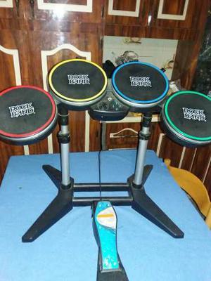 Bateria Rock Band Nintendo Wii + 2 Guitarras
