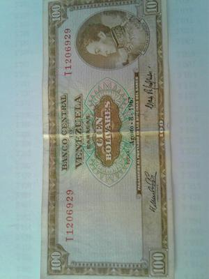 Billete Antiguo Del Año