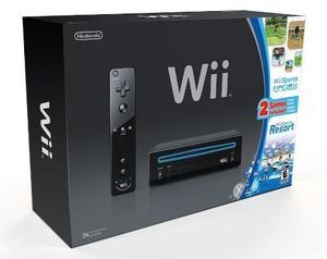 Consola Nintendo Wii Black Con Juego Wii Sport Resort
