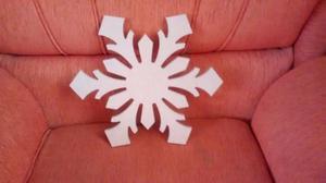 Copo De Nieve En Mdf Crudo Para Adornar En Navidad
