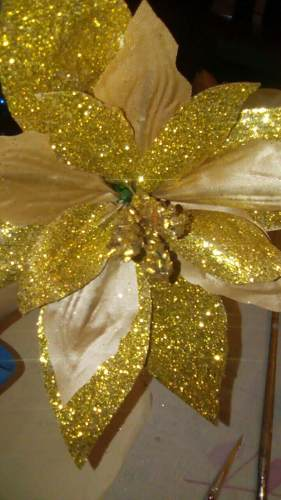 Flores De Navidad De Tela