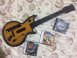 Guitarra Para Wii Con Sus Juegos