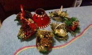 Mini Cestas De Navidad. Adornos Navideños Set De 6