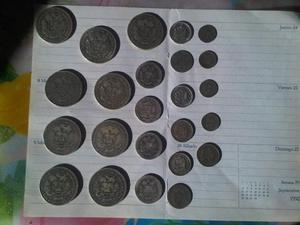 Monedas antiguas de plata.