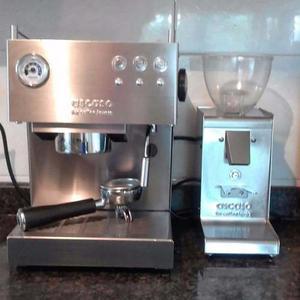 Máquina De Café Espresso Ascaso 110v Y Molino 220v