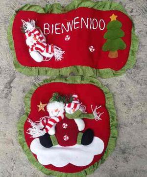 Muñecos De Navidad Juego De Baño