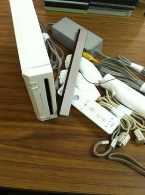 Nintendo Wii Chipeado Con 38 Juegos Y 3 Originales