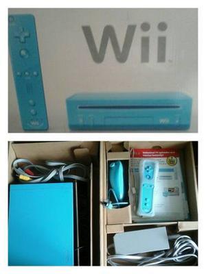 Nintendo Wii Edición Especial Azul. Vendo Por No Usar