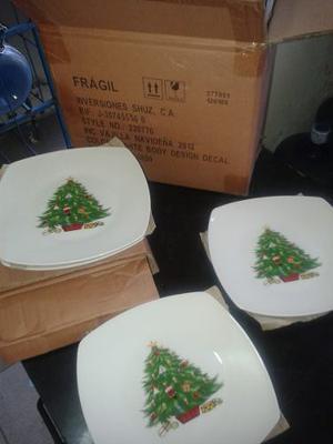Vajilla De Navidad De 16 Piezas 4 Puestos
