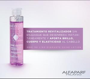Ampolla Alfaparf Rosada Semi Di Lino Shine Lotion