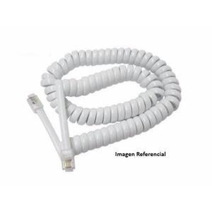 Cable Auricular Espiral Para Telefonos Fijos 1 Metro