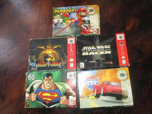 Caja Y Manuales Para Juegos De Nintendo 64