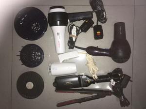 Kit Para Salon De Bellesa Secadores 2 Y Plancha 2 Accesorios