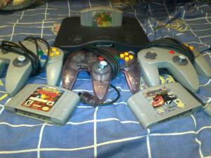 Nintendo 64 3juegos Y 3 Controles