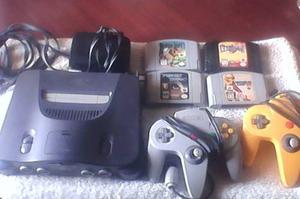 Nintendo 64 Con 2 Controles Y 4 Juegos