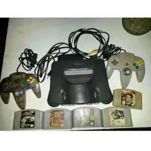 Nintendo 64 Original + 2 Controles + 5 Juegos