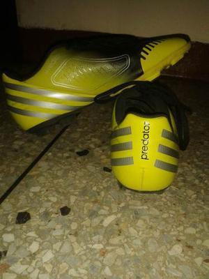 Tacos Para Futbol Marca Nike Predator Color Verde Talla 37