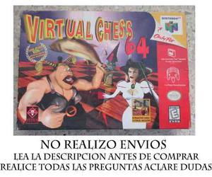 Virtual Chess 64 Caja Y Manuales (no Incluye Juego)