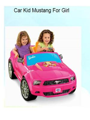 Carro Eléctrico Ford Mustang De Barbie