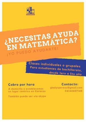 Clases Particulares De Matemática Primaria Y Bachillerato